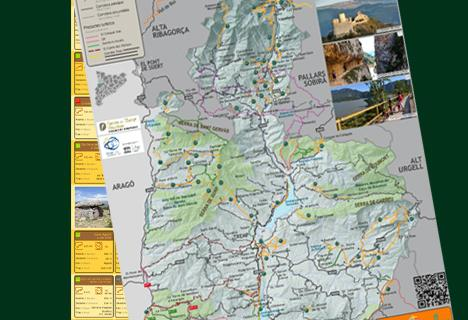 Walks and hikes map